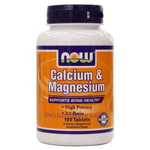 Picture of Now Foods Calcium & Magnesium 100 Tablets