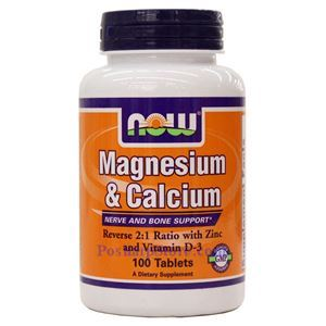 Picture of Now Foods Magnesium & Calcium  100 Tablets