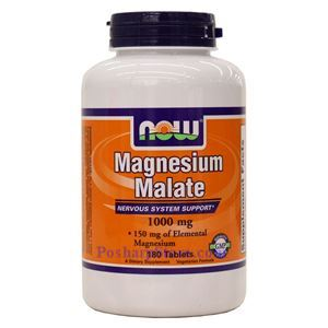 Picture of Now Foods Magnesium Malate 1000 mg Vegetarian 180 Tablets