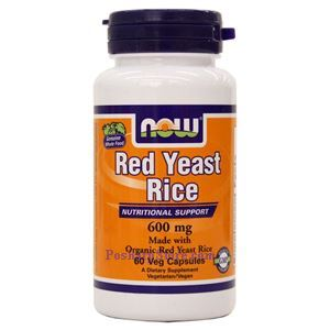 Picture of Now Foods Red Yeast Rice 600mg 60 Veg Capsules