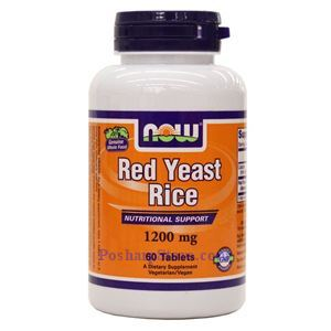 Picture of Now Foods Red Yeast Rice 1200mg 60 Tablets