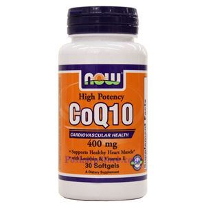 Picture of Now Foods CoQ10 400mg 30 Softgels