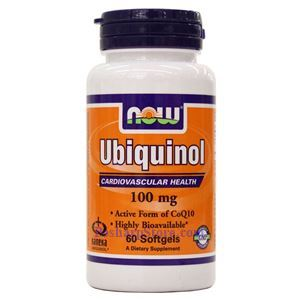 Picture of Now Foods Ubiquinol 100mg 60 Softgels