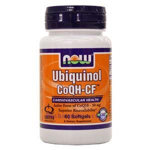 图片 Now Foods牌CoQH-CF还原型辅酶CoQ10软胶囊 60粒