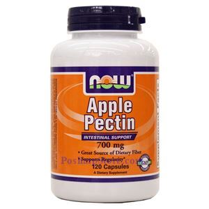 Picture of Now Foods Apple Pectin 700mg 120 Capsules