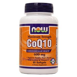 Picture of Now Foods CoQ10 600mg 60 Softgels