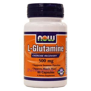 Picture of Now Foods L-Glutamine 500mg 60 Capsules
