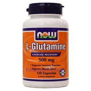 Picture of Now Foods L-Glutamine 500mg 120 Capsules