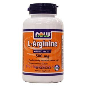 Picture of Now Foods L-Arginine 500mg 100 Capsules