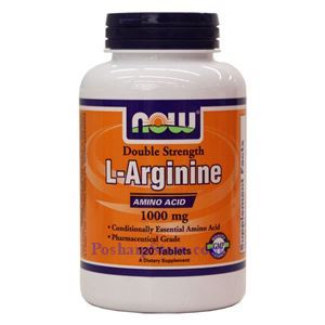 Picture of Now Foods L-Arginine Double Strength 1000mg 120 Tablets