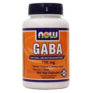 Picture of Now Foods GABA 750mg 100 Veg Capsules