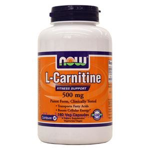 Picture of Now Foods L-Carnitine 500 mg 180 Veg Capsules