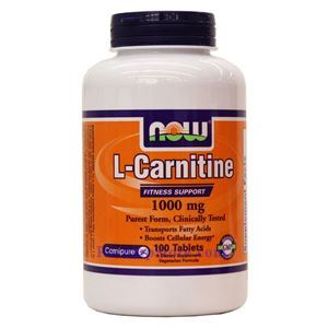 Picture of Now Foods L-Carnitine 1000 mg 100 Tablets