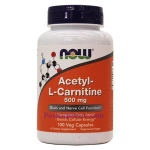 Picture of Now Foods Acetyl-L-Carnitine 500mg 100 Veg Capsules