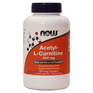 Picture of Now Foods Acetyl-L-Carnitine 500mg 200 Veg Capsules