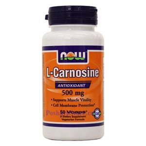 Picture of Now Foods L-Carnosine 500mg 50 Veg Capsules
