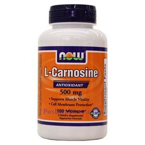 Picture of Now Foods L-Carnosine 500mg 100 Veg Capsules