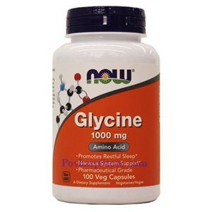 Picture of Now Foods Glycine 1000mg  100 Capsules