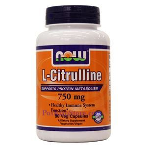 Picture of Now Foods L-Citrulline 750 mg 90 Veg Capsules