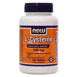 Picture of Now Foods L-Cysteine 500mg 100 Tablets