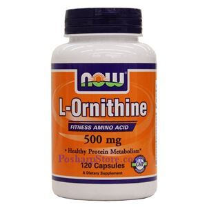 Picture of Now Foods L-Ornithine 500mg 120 Veg Capsules