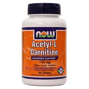 Picture of Now Foods Acetyl-L-Carnitine 750mg 90 Tablets