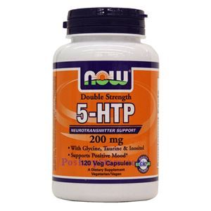 Picture of Now Foods 5-HTP Double Strength 200mg 120 Veg Capsules