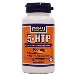 Picture of Now Foods 5-HTP 100mg 60 Veg Capsules