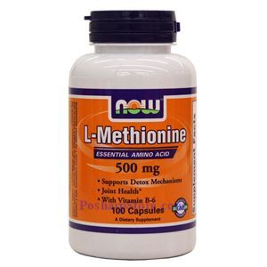 Picture of Now Foods L-Methionine 500mg 100 Capsules