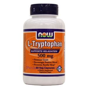 Picture of Now Foods L-Tryptophan 500mg 60 Veg Capsules