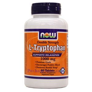 Picture of Now Foods L-Tryptophan 1000mg 60 Tablets