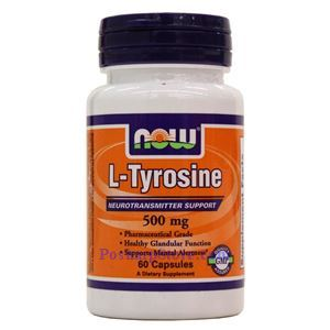 Picture of Now Foods L-Tyrosine 500mg 60 Capsules