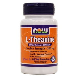 Picture of Now Foods L-Theanine 200mg 60 Veg Capsules