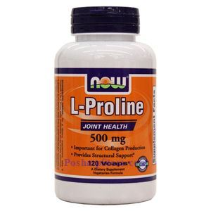 Picture of Now Foods L-Proline 500mg 120 Veg Capsules