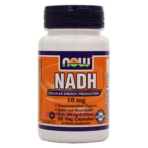 Picture of Now Foods NADH 10mg 60 Veg Capsules