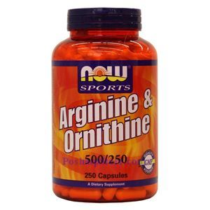 Picture of Now Foods Arginine & Ornithine 500/250mg 250 Capsules
