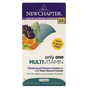 Picture of New Chapter Only One Multivitamin 72 tablets