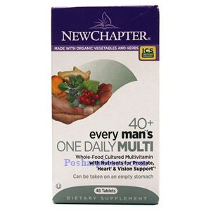 Picture of New Chapter Every 40+ Man's One Daily Multivitamin 48 Tablets