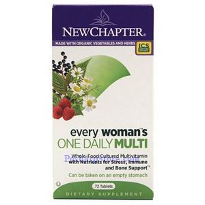 Picture of New Chapter Every Woman's One Daily Multivitamin 72 Tablets