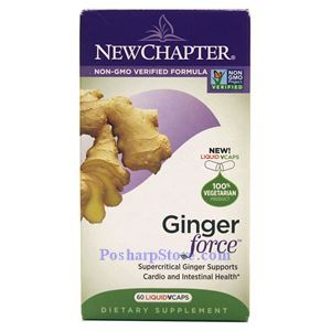 Picture of New Chapter Ginger Force 60 Liquid Veg Capsules