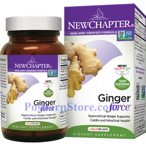 Picture for category New Chapter Ginger Force 60 Liquid Veg Capsules
