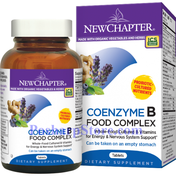 Picture for category New Chapter Coenzyme B Food Complex 90 Tablets