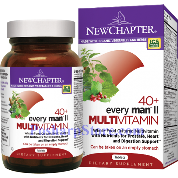 Picture for category New Chapter Every 40+ Man  II  Multivitamin 96 Tablets