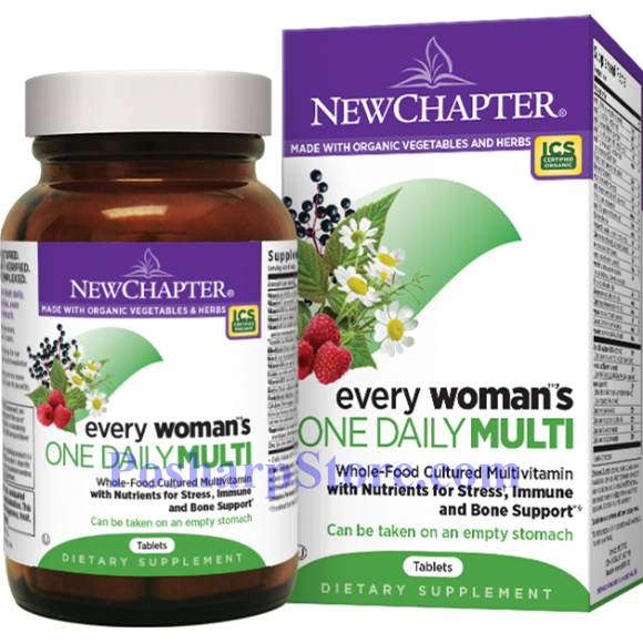 Picture for category New Chapter Every Woman's One Daily Multivitamin 72 Tablets