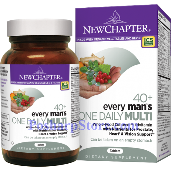 Picture for category New Chapter Every 40+ Man's One Daily Multivitamin 72 Tablets