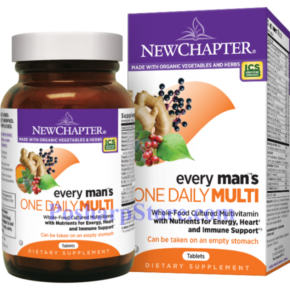 Picture for category New Chapter Every Man's One Daily Multivitamin 72 Tablets