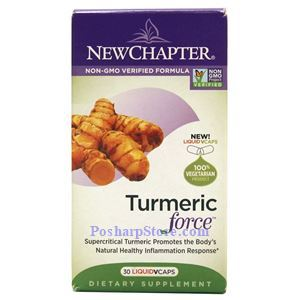 Picture of New Chapter Turmeric Force 30 Liquid Vcaps
