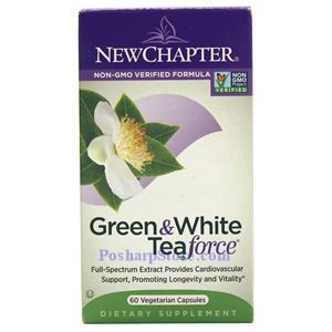 Picture of New Chapter Green & White Tea Force 60 Vegetarian Capsules