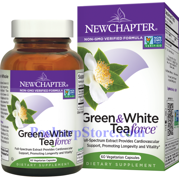 Picture for category New Chapter Green & White Tea Force 60 Vegetarian Capsules
