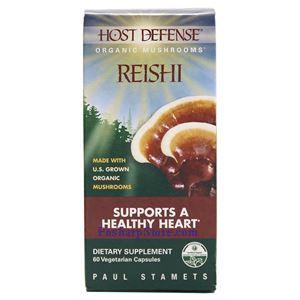 Picture of Host Defence Organic Mushroom Reishi 60 Capsules